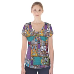 Rol The Film Strip Short Sleeve Front Detail Top