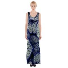 Leaf Purple Maxi Thigh Split Dress