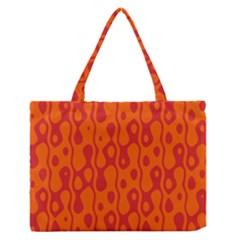 Orange Medium Zipper Tote Bag