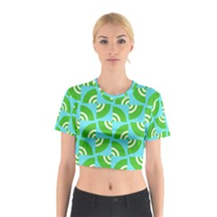 Easy Peasy Lime Squeezy Green Cotton Crop Top