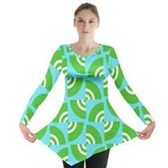 Easy Peasy Lime Squeezy Green Long Sleeve Tunic
