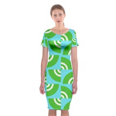 Easy Peasy Lime Squeezy Green Classic Short Sleeve Midi Dress