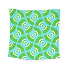 Easy Peasy Lime Squeezy Green Square Tapestry (small)