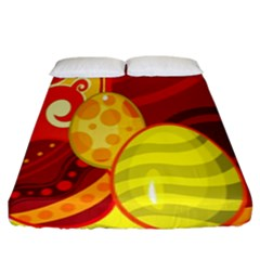 Easter Egg Circle Fitted Sheet (king Size)
