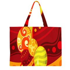 Easter Egg Circle Large Tote Bag