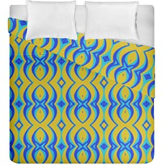 Blue Yellow Duvet Cover Double Side (king Size)