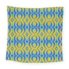 Blue Yellow Square Tapestry (large)