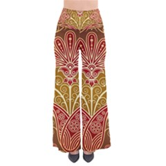 European Fine Batik Flower Brown Pants