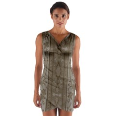 Cool Wall Bedroom Wrap Front Bodycon Dress