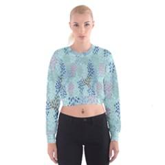 Flower Women s Cropped Sweatshirt