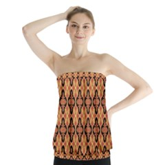 Flower Batik Strapless Top