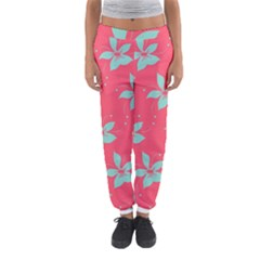 Flower Green Red Women s Jogger Sweatpants