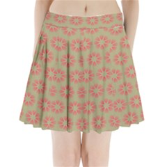 Flower Pink Pleated Mini Skirt