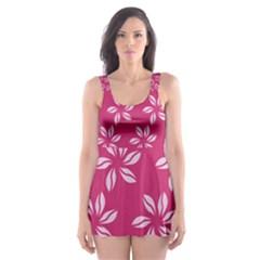 Flower Roses Skater Dress Swimsuit