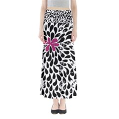 Flower Simple Pink Maxi Skirts