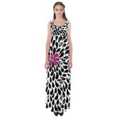 Flower Simple Pink Empire Waist Maxi Dress