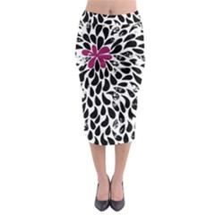 Flower Simple Pink Midi Pencil Skirt