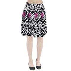 Flower Simple Pink Pleated Skirt