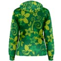 Flower Yellow Green Women s Pullover Hoodie View2