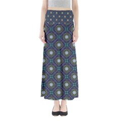 Flower Star Gray Maxi Skirts