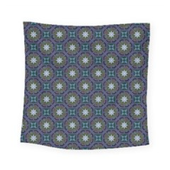 Flower Star Gray Square Tapestry (small)