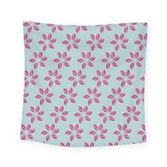 Flowers Fushias On Blue Sky Square Tapestry (small)