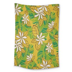 Flower Yellow Large Tapestry
