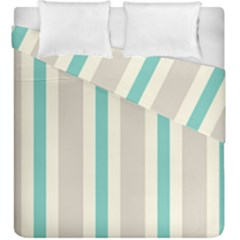 Gray Blue Duvet Cover Double Side (king Size)