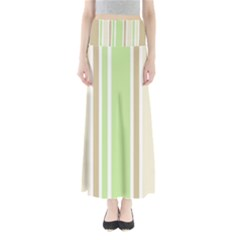 Gray Green Maxi Skirts