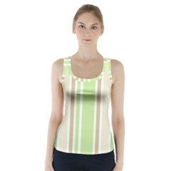 Gray Green Racer Back Sports Top