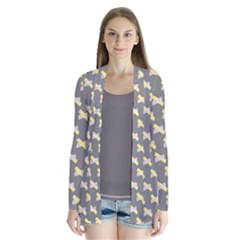Hearts And Yellow Crossed Washi Tileable Gray Cardigans
