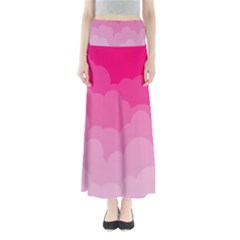 Lines Pink Cloud Maxi Skirts