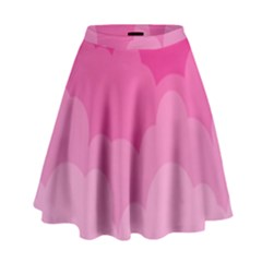 Lines Pink Cloud High Waist Skirt