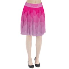 Lines Pink Cloud Pleated Skirt