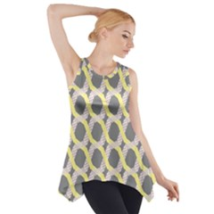 Hearts And Yellow Washi Zigzags Tileable Side Drop Tank Tunic