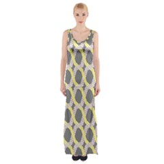 Hearts And Yellow Washi Zigzags Tileable Maxi Thigh Split Dress