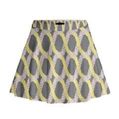 Hearts And Yellow Washi Zigzags Tileable Mini Flare Skirt