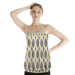 Hearts And Yellow Washi Zigzags Tileable Strapless Top
