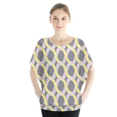 Hearts And Yellow Washi Zigzags Tileable Blouse