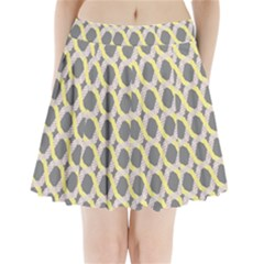 Hearts And Yellow Washi Zigzags Tileable Pleated Mini Skirt