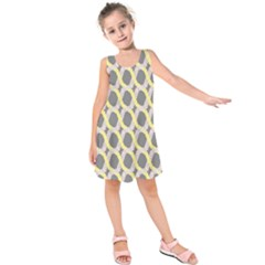 Hearts And Yellow Washi Zigzags Tileable Kids  Sleeveless Dress