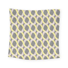 Hearts And Yellow Washi Zigzags Tileable Square Tapestry (small)