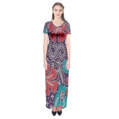 Madura Batik Short Sleeve Maxi Dress