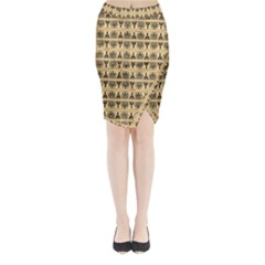 Greek Seamless Midi Wrap Pencil Skirt