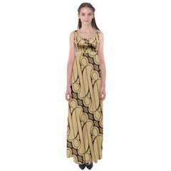 Batik Parang Rusak Seamless Empire Waist Maxi Dress