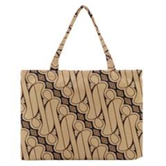 Batik Parang Rusak Seamless Medium Zipper Tote Bag