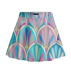 Colorful lila toned mosaic Mini Flare Skirt