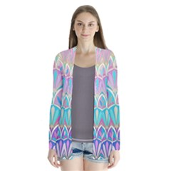 Colorful lila toned mosaic Cardigans