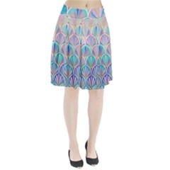 Colorful lila toned mosaic Pleated Skirt