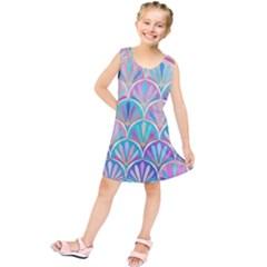 Colorful lila toned mosaic Kids  Tunic Dress